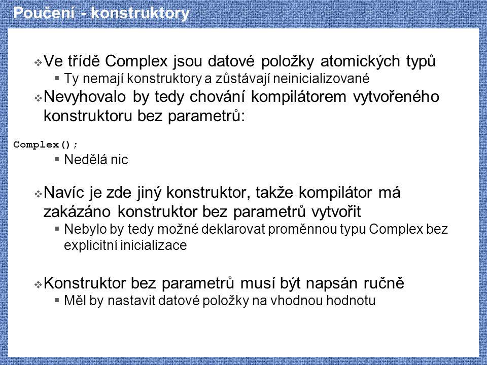 Poučení - konstruktory