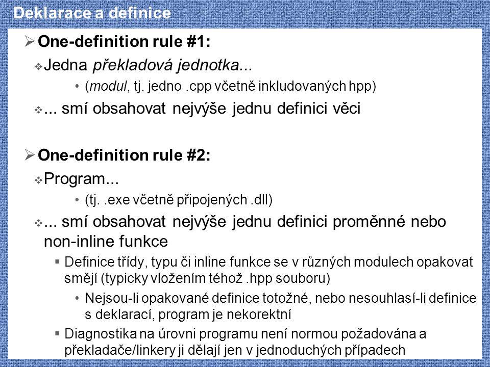 One-definition rule #1: Jedna překladová jednotka...