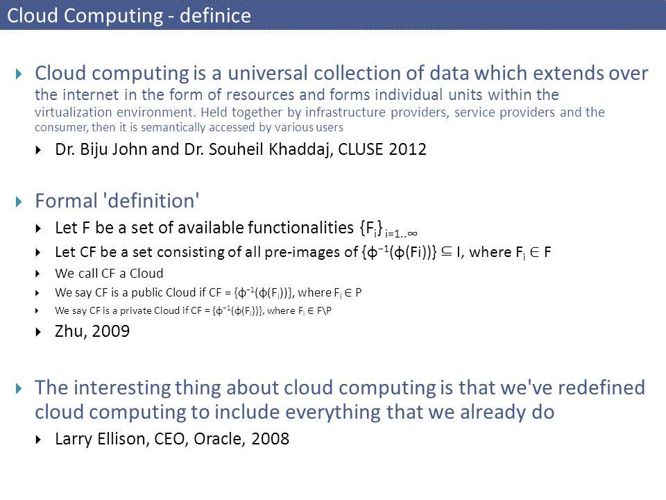 Cloud Computing - definice