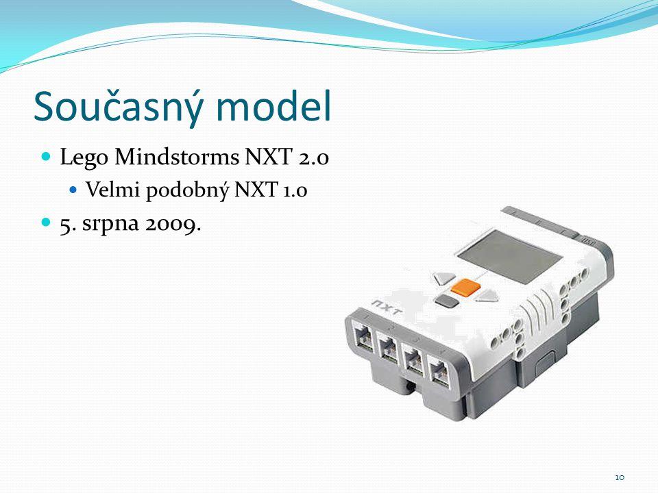 Současný model Lego Mindstorms NXT 2.0 5. srpna 2009.