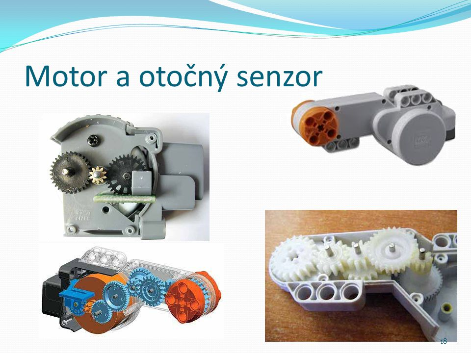 Motor a otočný senzor