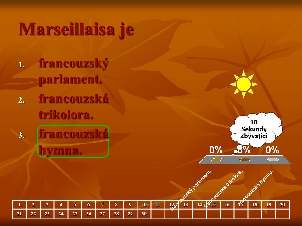 Marseillaisa je francouzský parlament. francouzská trikolora.