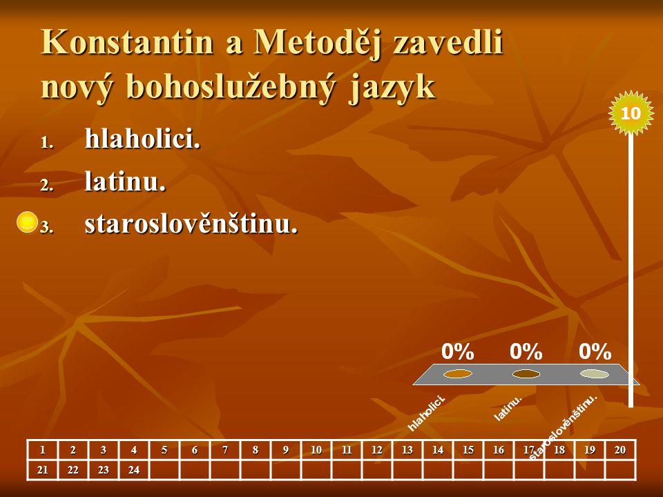 Konstantin a Metoděj zavedli nový bohoslužebný jazyk