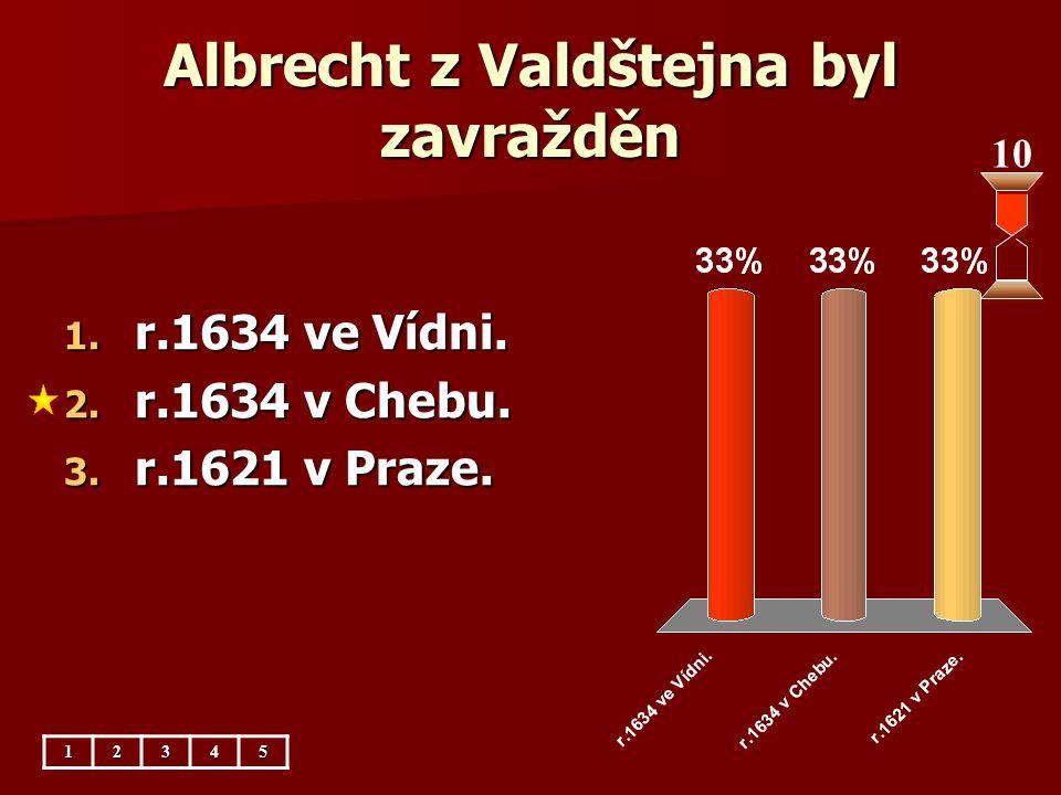 Albrecht z Valdštejna byl zavražděn