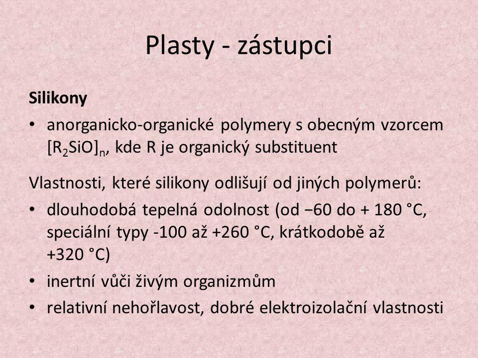 Plasty - zástupci Silikony