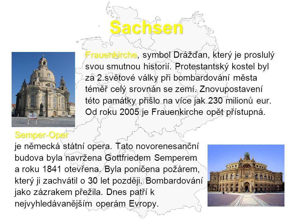 Sachsen Frauenkirche, symbol Drážďan, který je proslulý