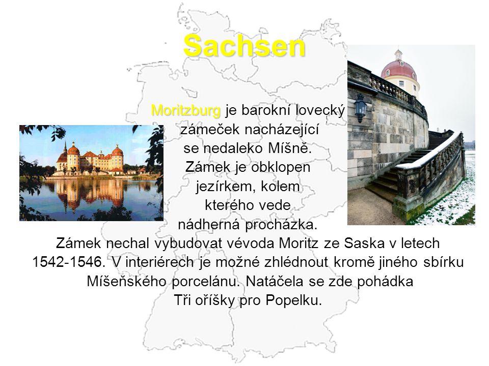 Sachsen Moritzburg je barokní lovecký zámeček nacházející