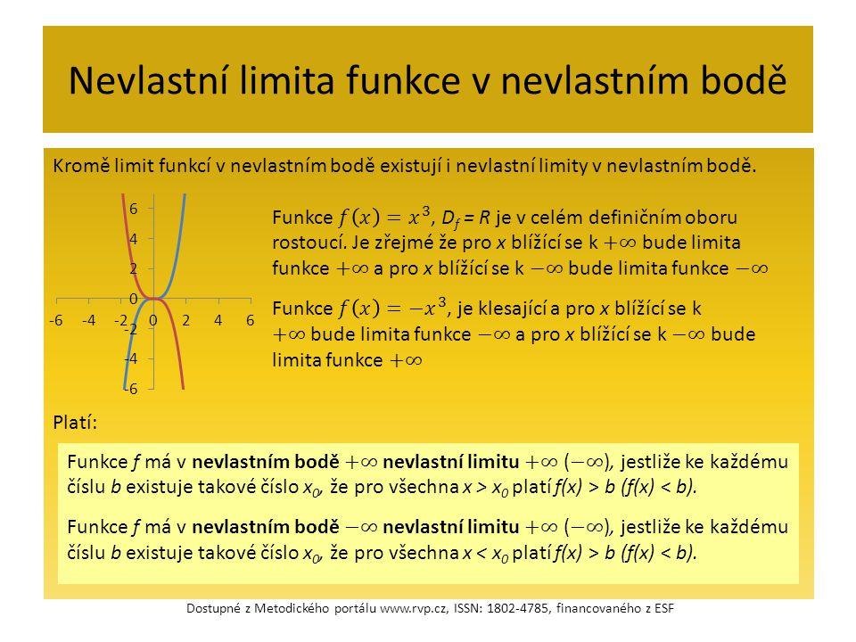 Nevlastní limita funkce v nevlastním bodě