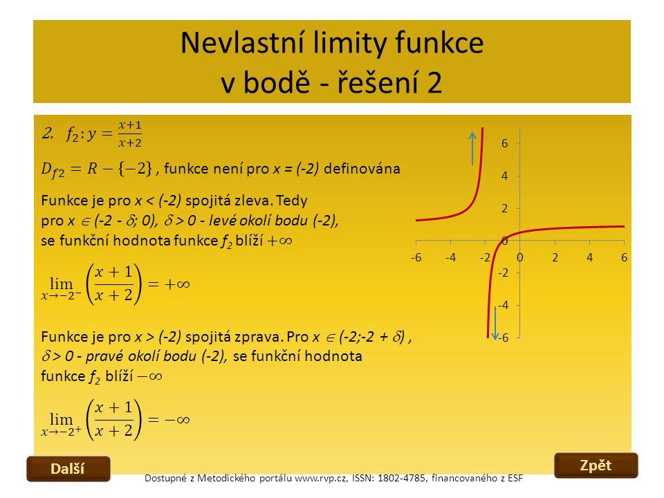 Nevlastní limity funkce v bodě - řešení 2