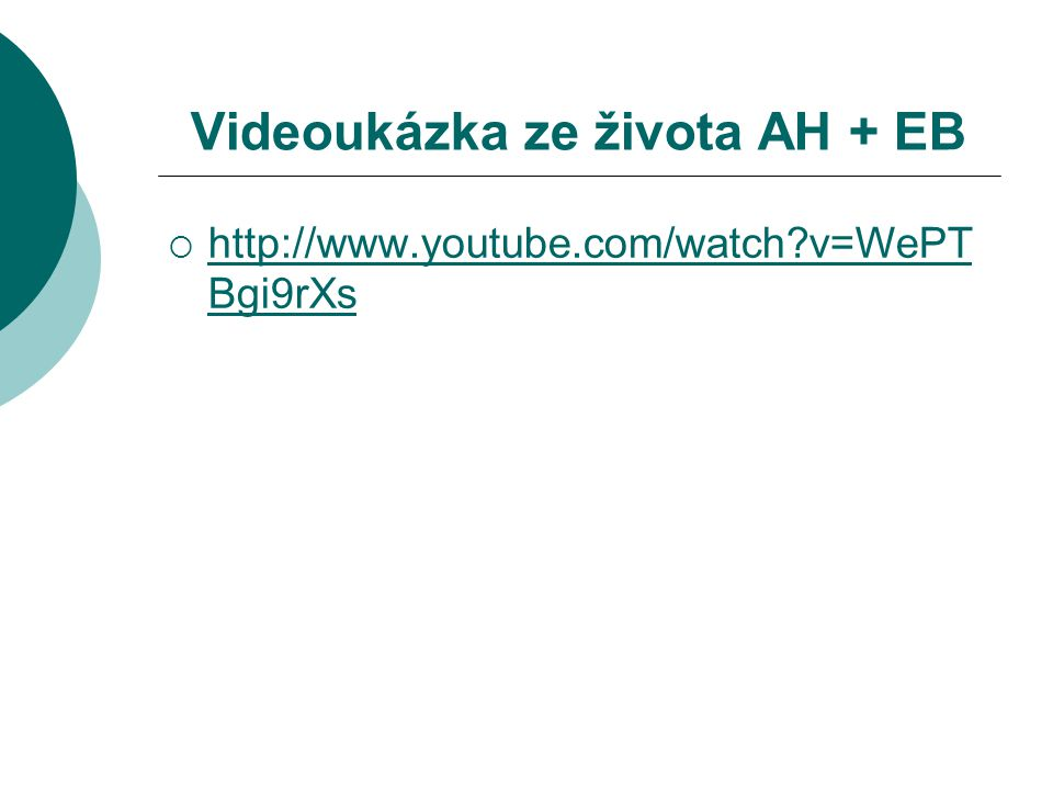 Videoukázka ze života AH + EB