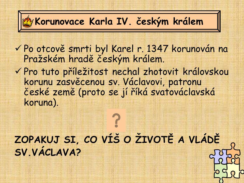 Korunovace Karla IV. českým králem
