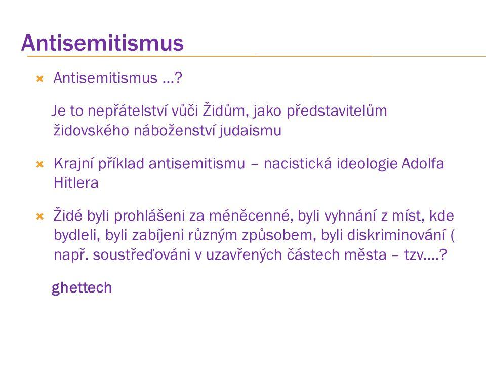 Antisemitismus Antisemitismus ...
