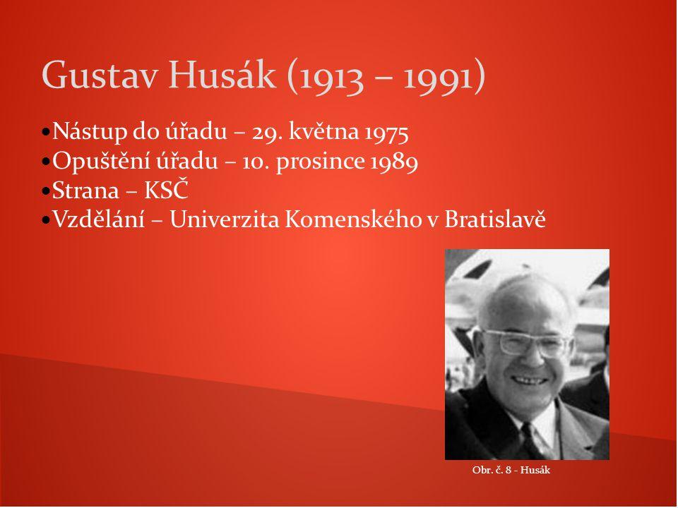 Gustav Husák (1913 – 1991) Nástup do úřadu – 29. května 1975