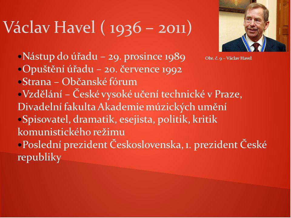 Václav Havel ( 1936 – 2011) Nástup do úřadu – 29. prosince 1989