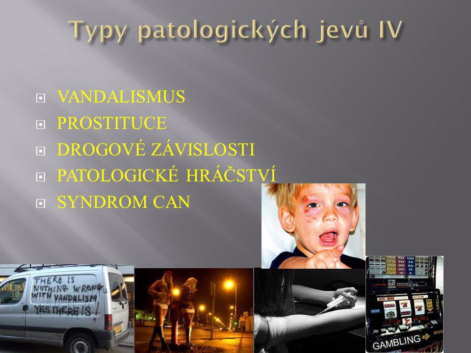 Typy patologických jevů IV