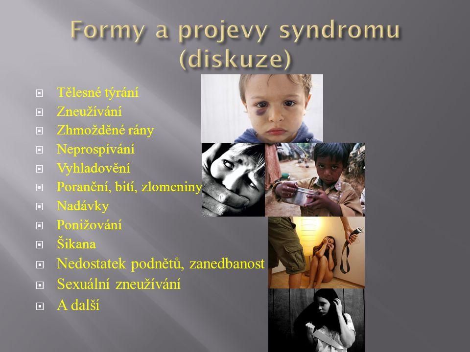 Formy a projevy syndromu (diskuze)