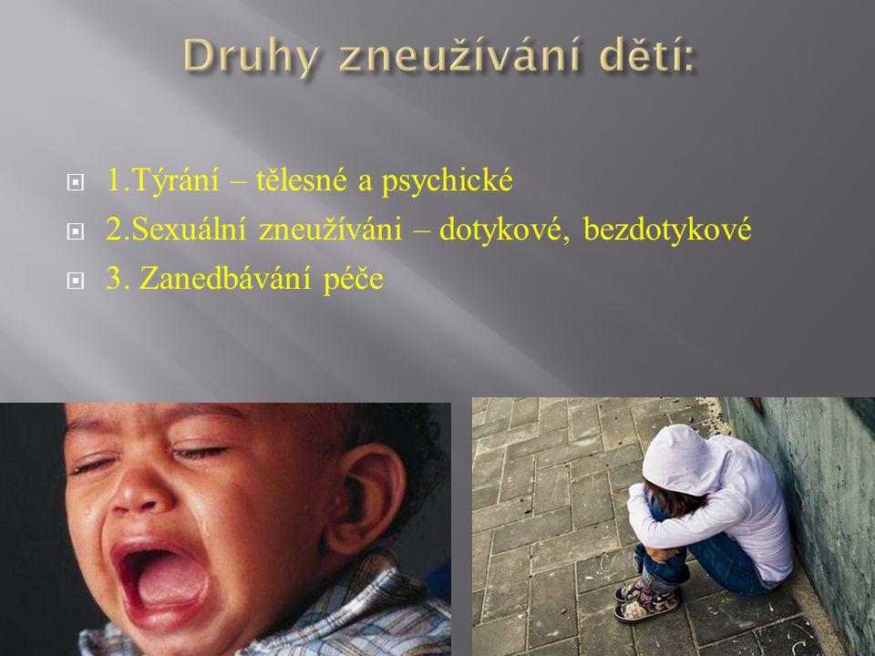 Druhy zneužívání dětí: