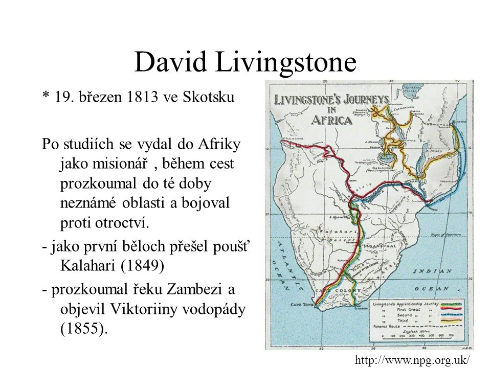 David Livingstone * 19. březen 1813 ve Skotsku