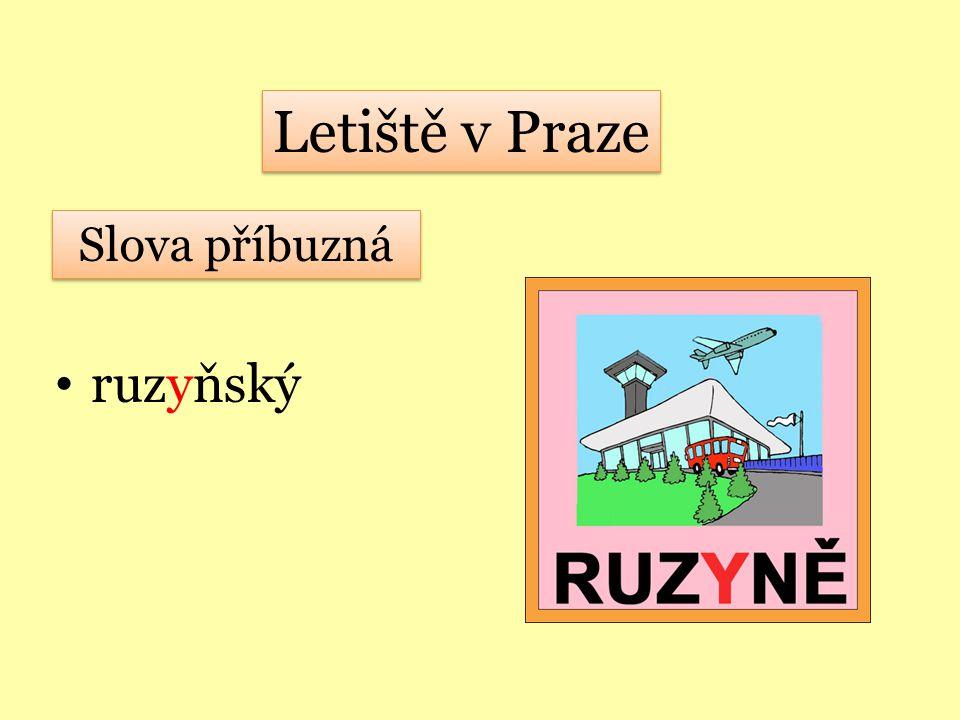 Letiště v Praze Slova příbuzná ruzyňský