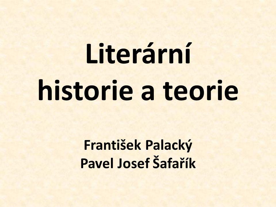 Literární historie a teorie