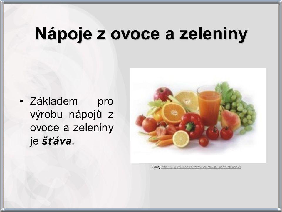 Nápoje z ovoce a zeleniny
