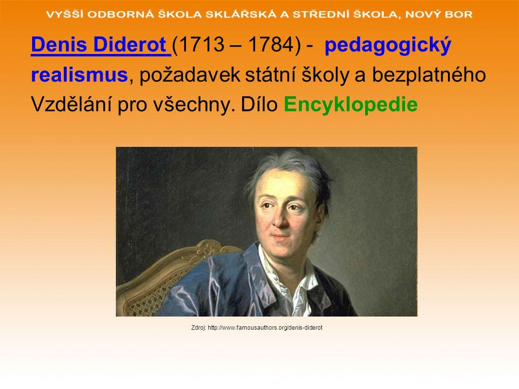 Denis Diderot (1713 – 1784) - pedagogický