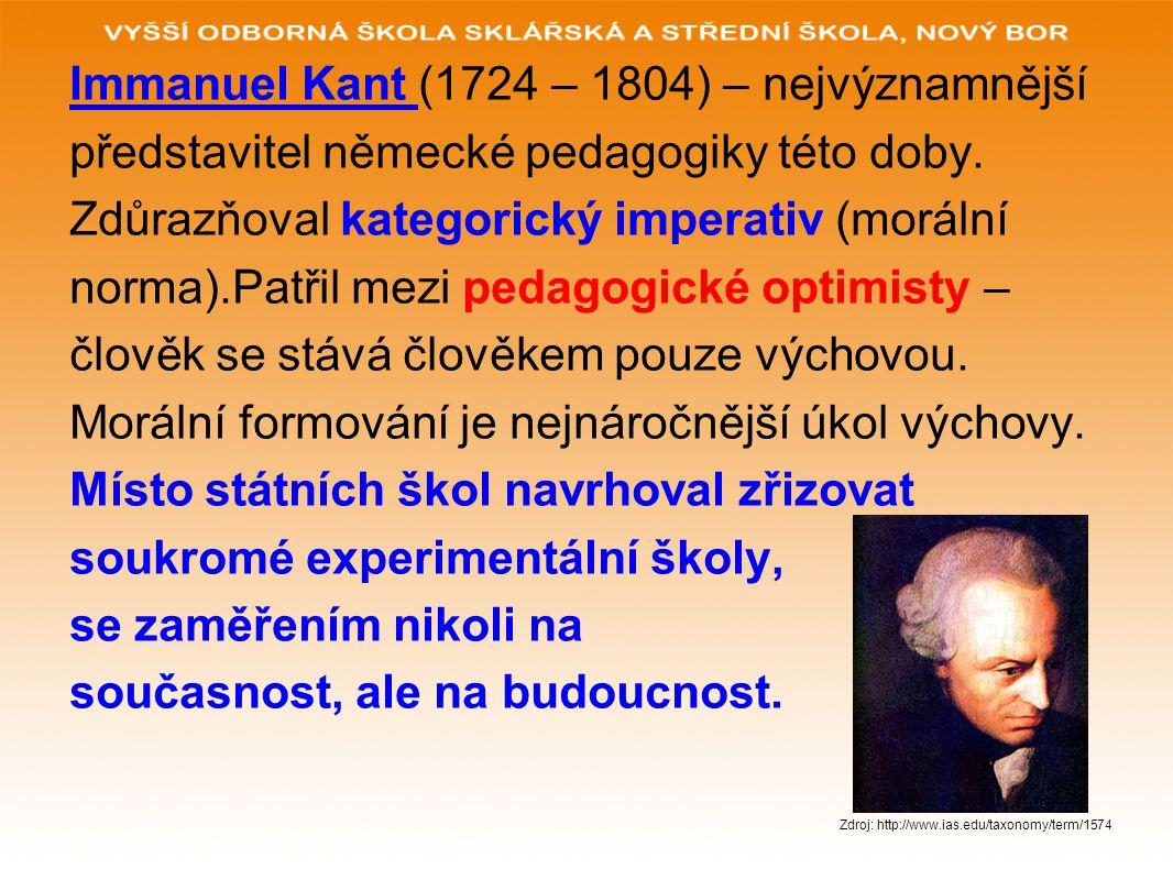 Immanuel Kant (1724 – 1804) – nejvýznamnější