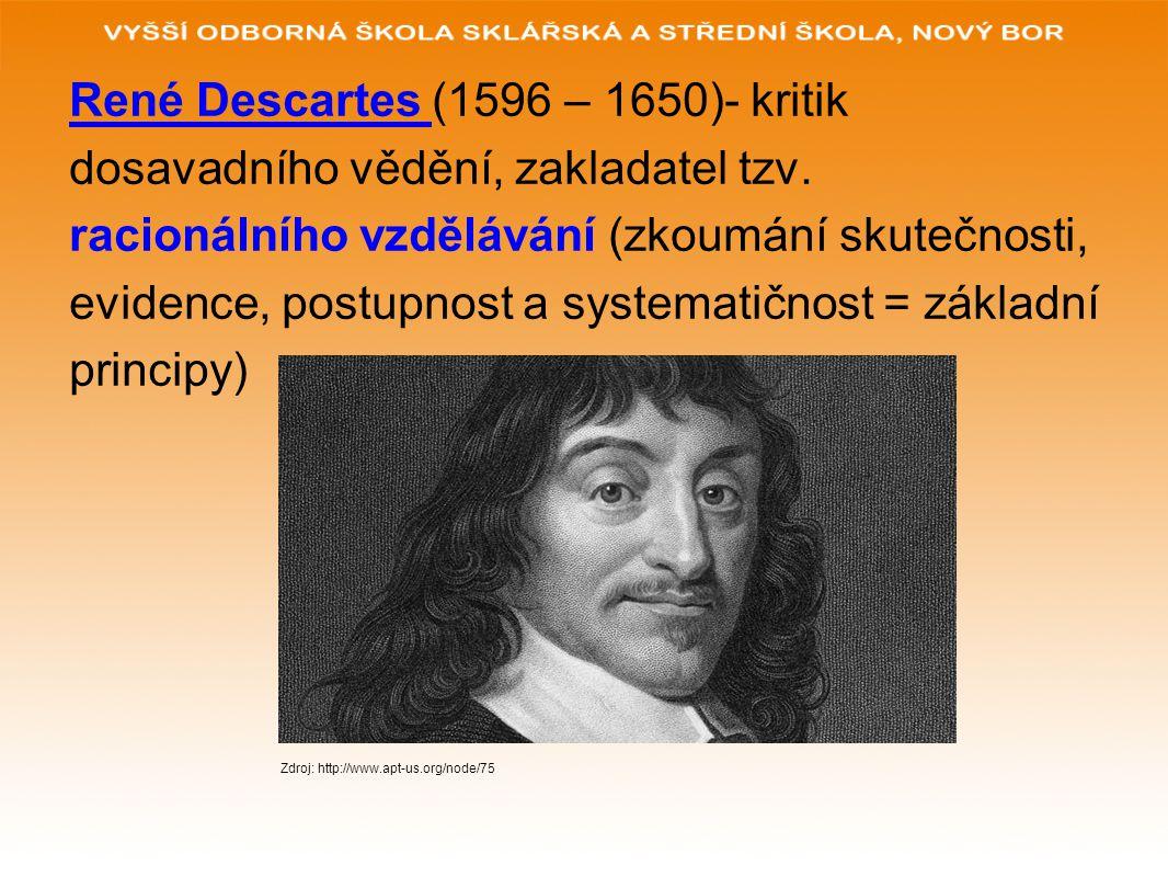 René Descartes (1596 – 1650)- kritik
