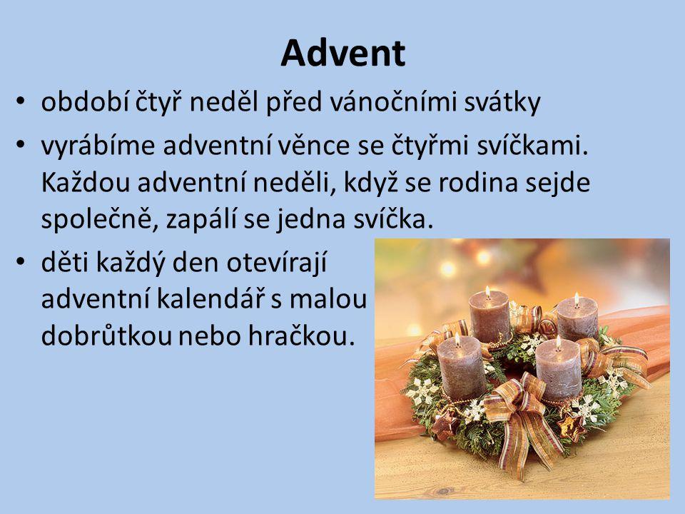 Advent období čtyř neděl před vánočními svátky