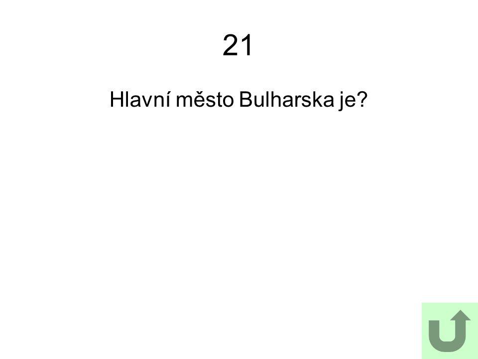 Hlavní město Bulharska je