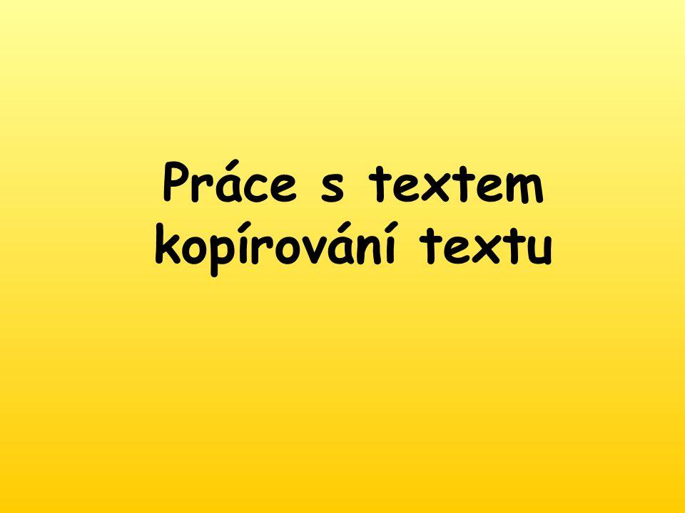 Práce s textem kopírování textu