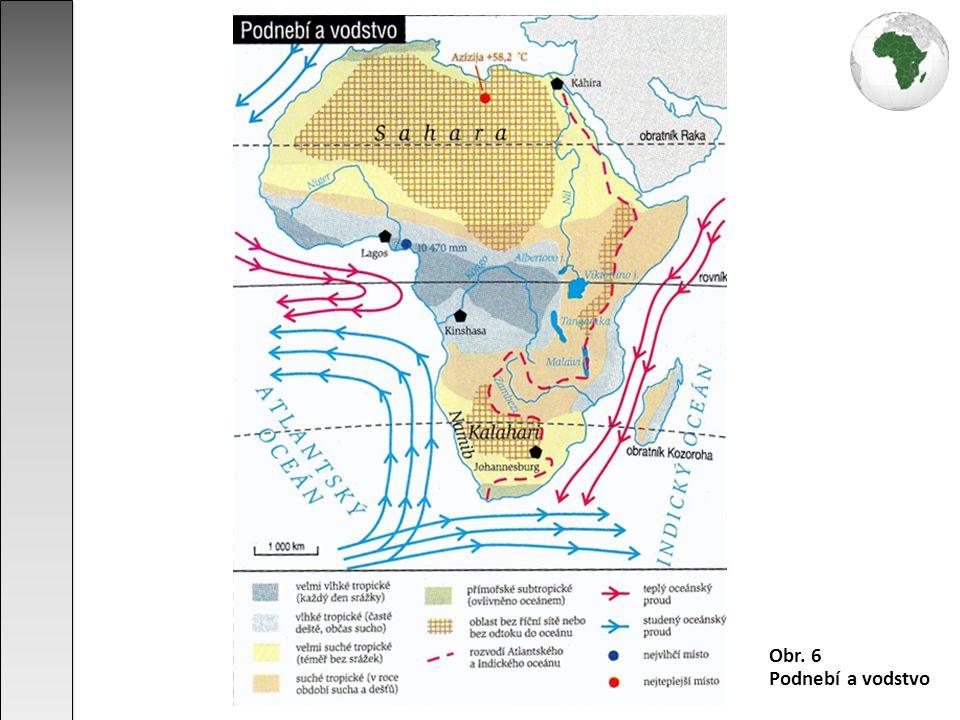 Obr. 6 Podnebí a vodstvo