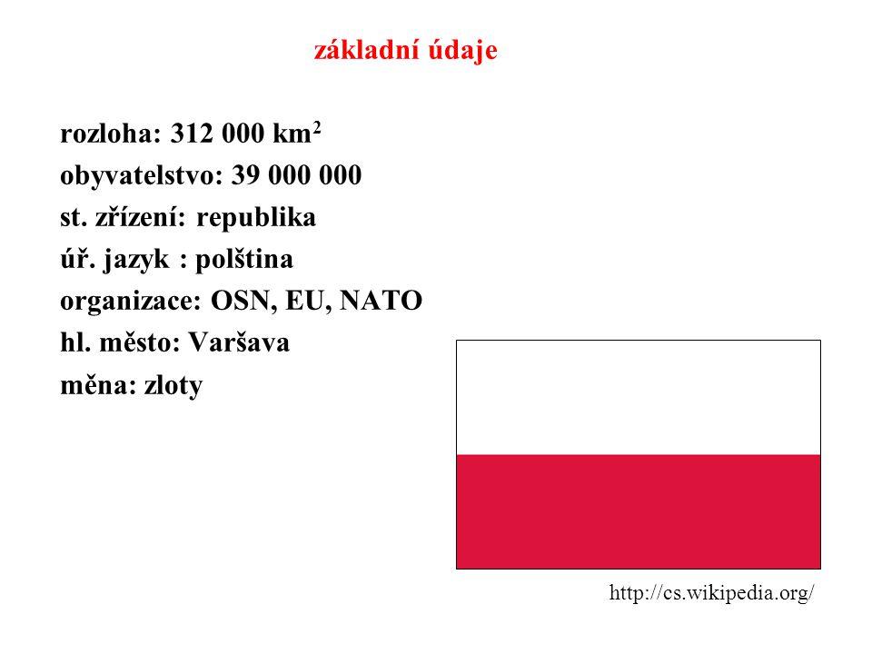 organizace: OSN, EU, NATO hl. město: Varšava měna: zloty