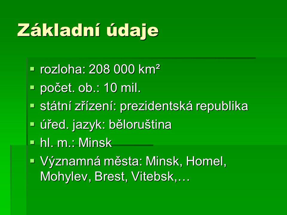 Základní údaje rozloha: 208 000 km² počet. ob.: 10 mil.