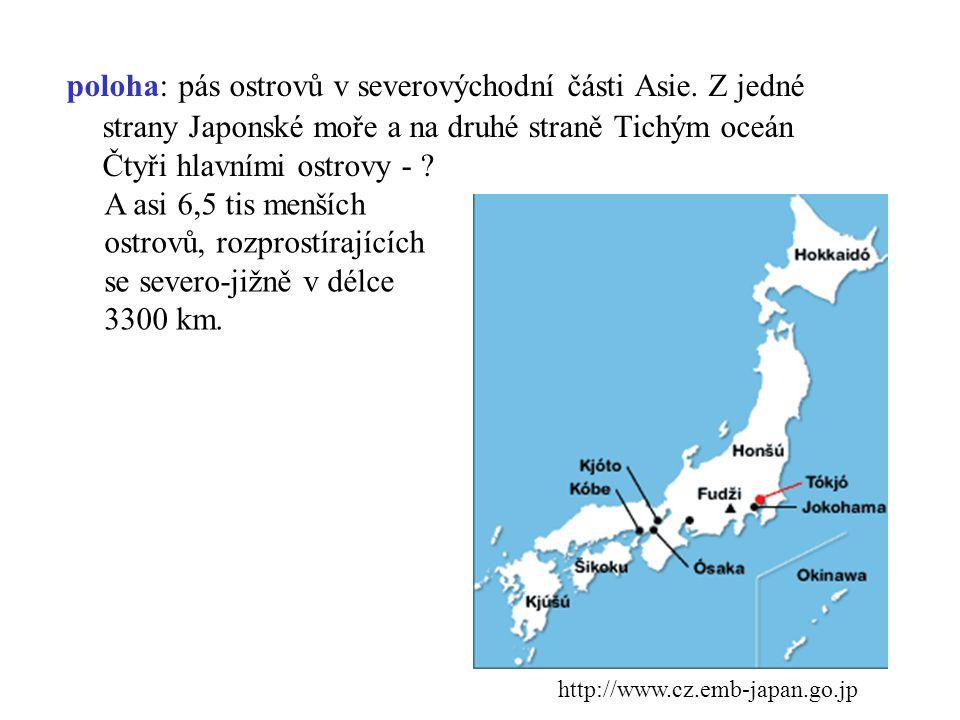 poloha: pás ostrovů v severovýchodní části Asie
