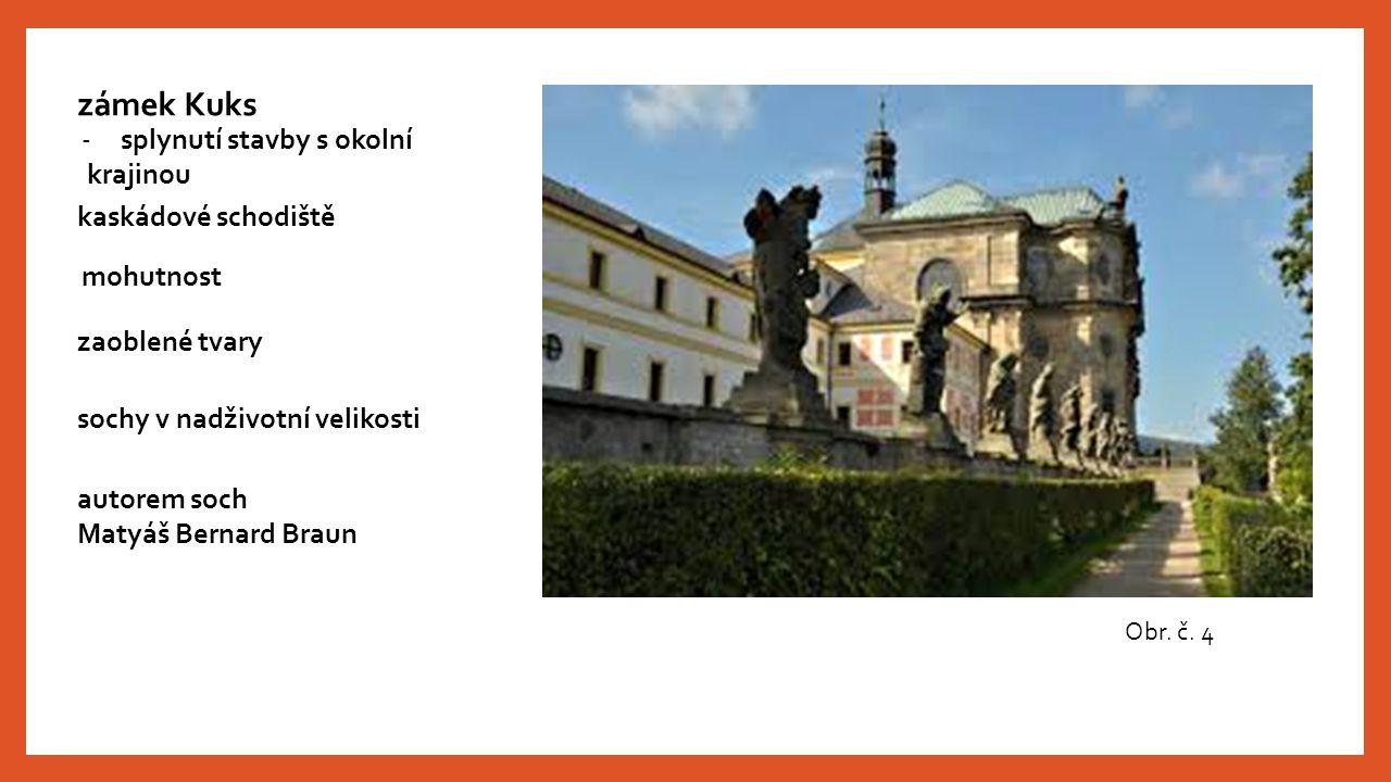 zámek Kuks splynutí stavby s okolní krajinou kaskádové schodiště