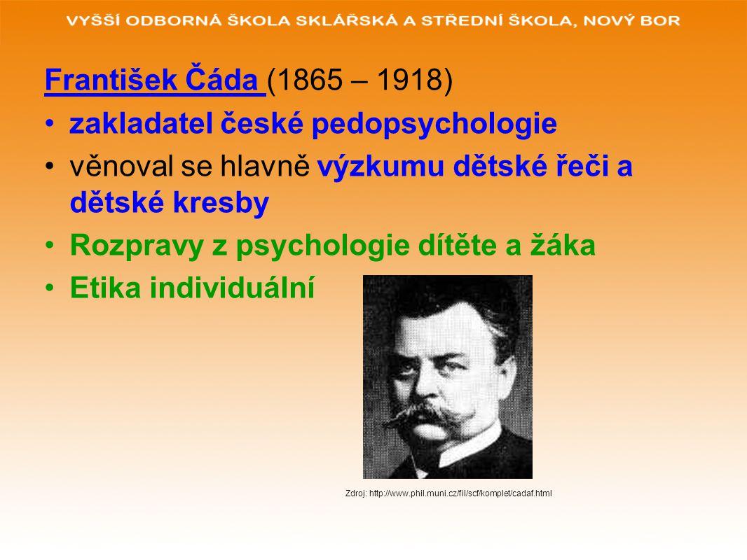 zakladatel české pedopsychologie