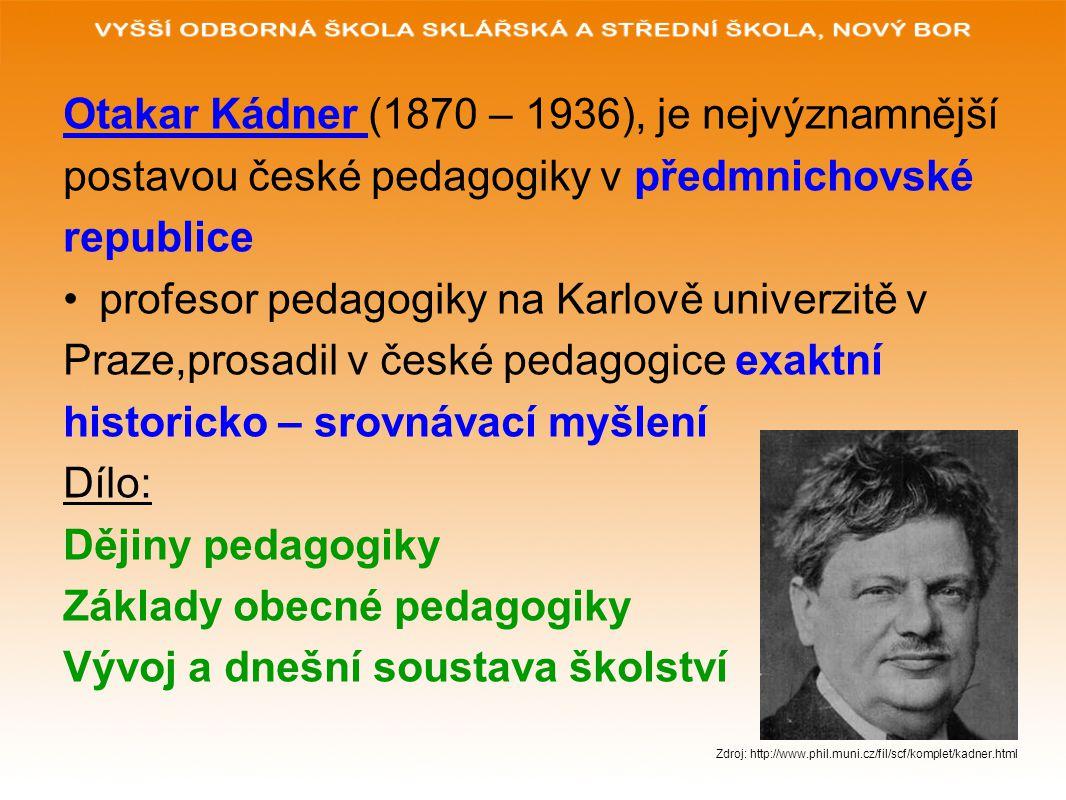 Otakar Kádner (1870 – 1936), je nejvýznamnější