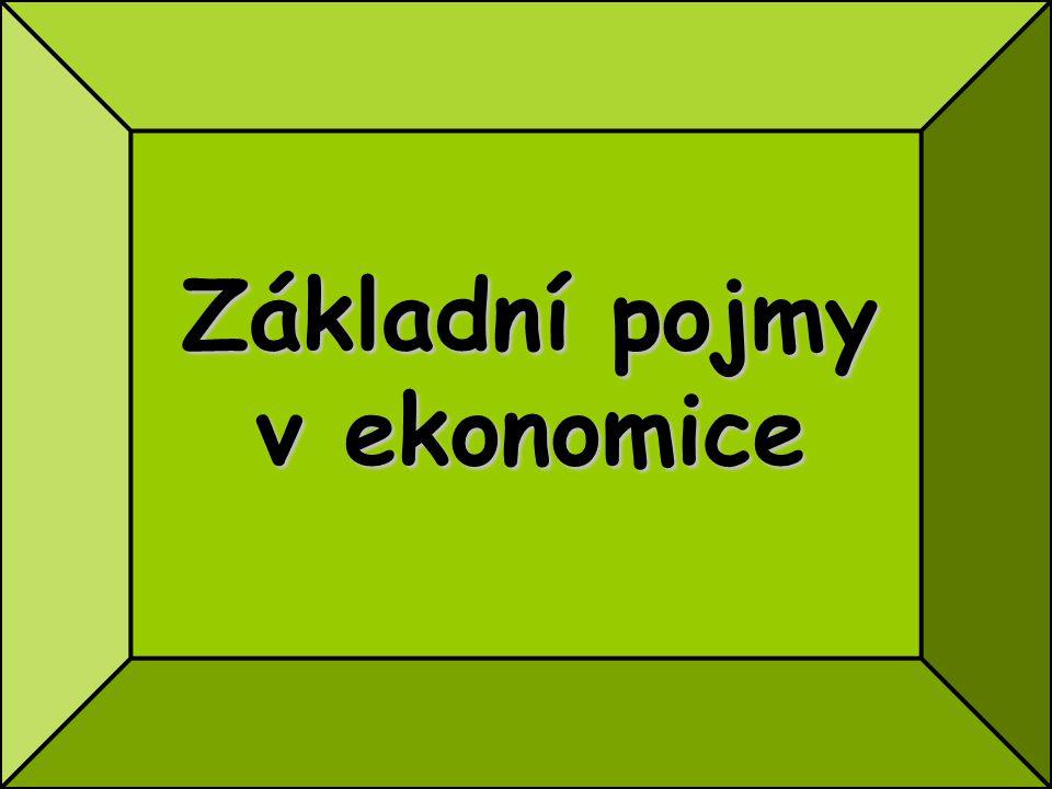 Základní pojmy v ekonomice