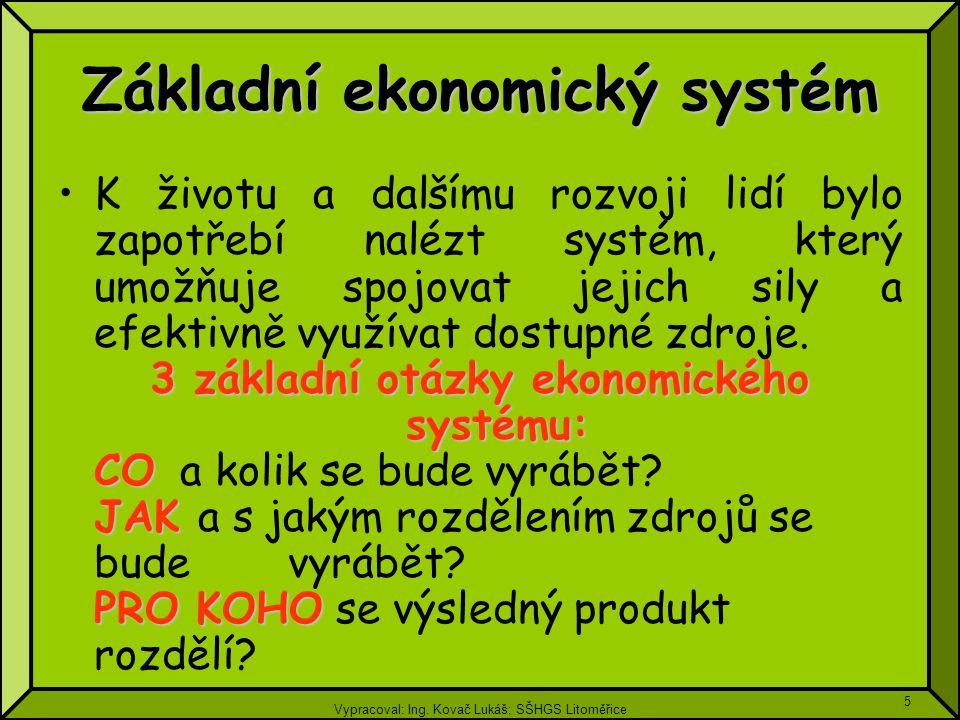 Základní ekonomický systém