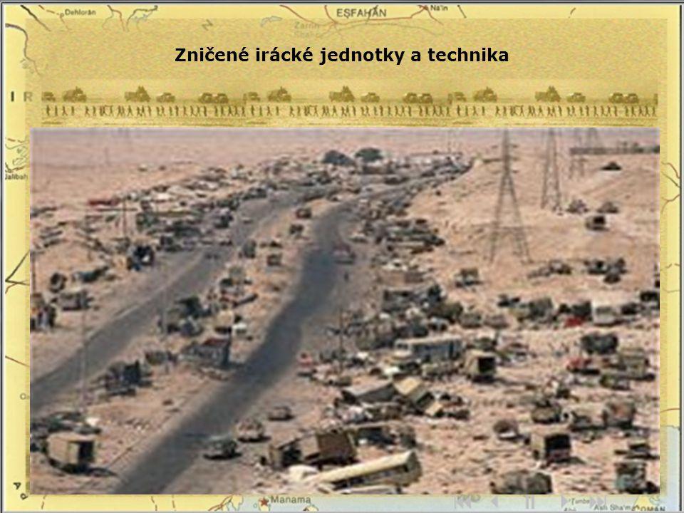 Zničené irácké jednotky a technika