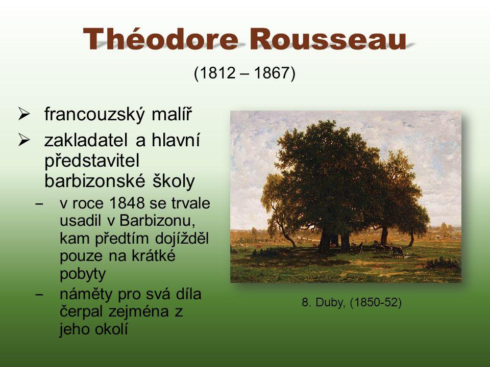 Théodore Rousseau francouzský malíř