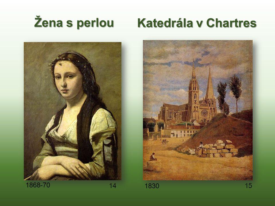 Žena s perlou Katedrála v Chartres