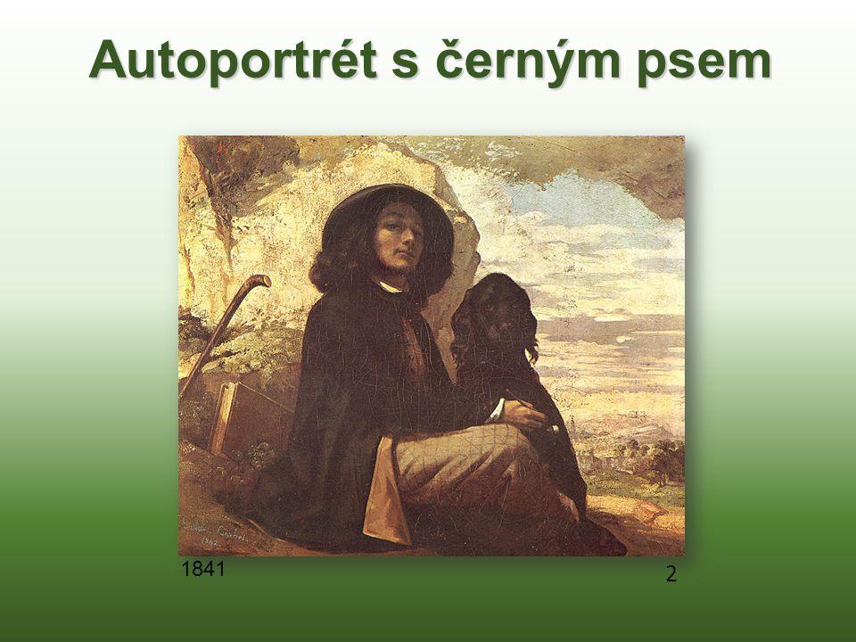 Autoportrét s černým psem