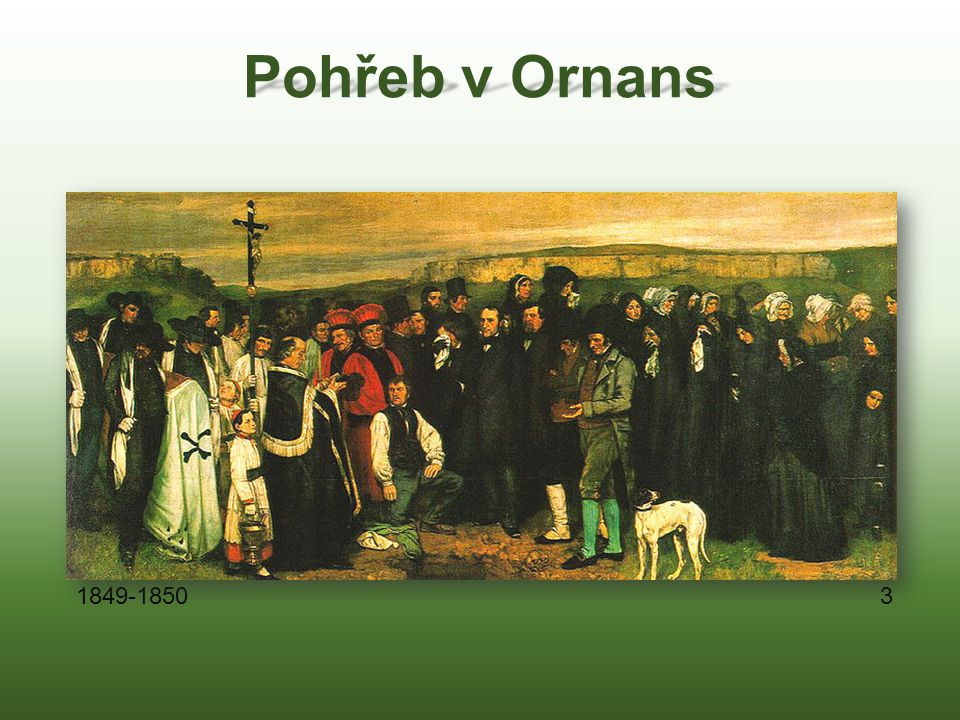 Pohřeb v Ornans 1849-1850 3