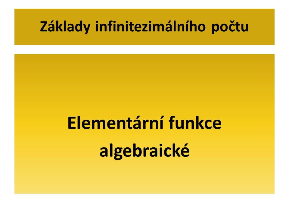 Základy infinitezimálního počtu