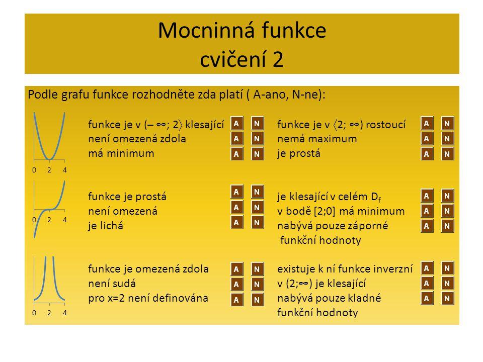Mocninná funkce cvičení 2