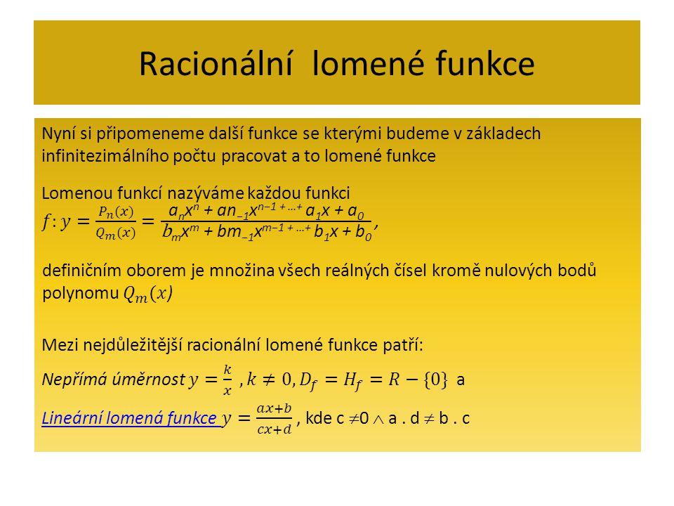 Racionální lomené funkce