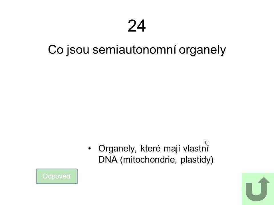 Co jsou semiautonomní organely