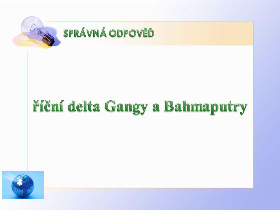 říční delta Gangy a Bahmaputry